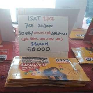 Paket internet indosat 7gb + Unlimitet apps