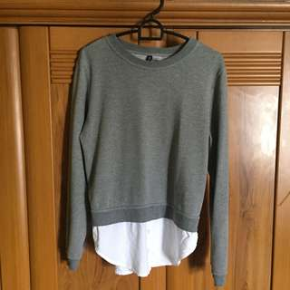 H&M fake two piece sweater