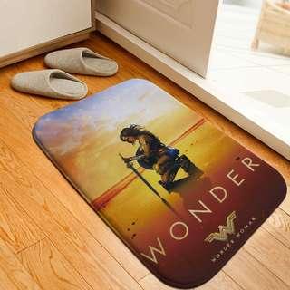 🚚 神力女超人 Wonder Woman質感法蘭絨臥室浴室客廳地墊/腳踏墊/浴室踏墊 #可客製