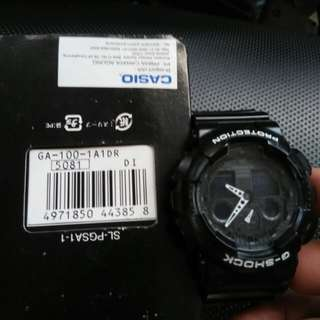 Casio gshock GA100 original detail wa