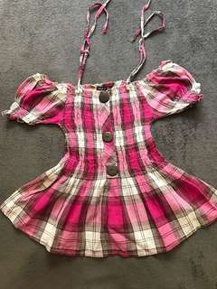 Cute pink checkered top