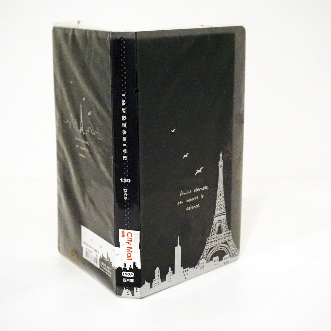 印象派名片簿120入 鐵塔(黑)