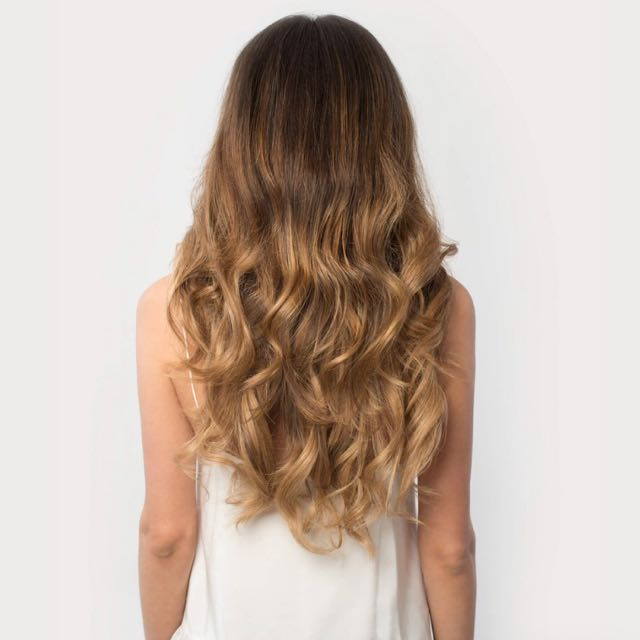 120g Luxy Hair Clip In Hair Extensions Ombre Blonde Health