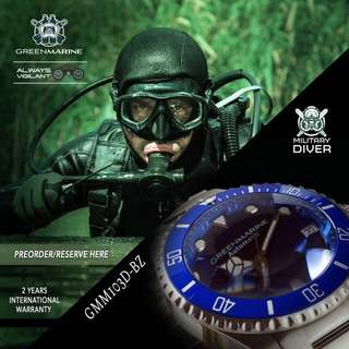 Green Marine Military Diver Edition Automatic 300m GMM103D-BZ