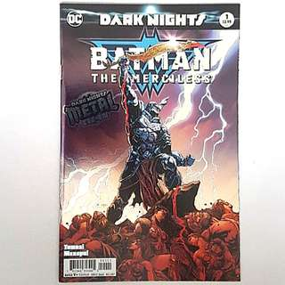 DC Comics Dark Nights Metal One Shot Batman The Merciless Near Mint Condition First Print