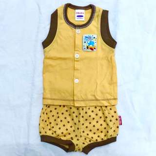Newborn bebe 2 piece sleeveless and short pants