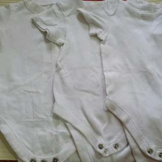 Preloved Mothercare And Mark & Spencer White Rompers 9 To 12 Months