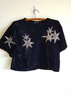 Velvet star top from ZARA