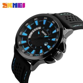 """ Casual SKMEI 9152 Original  Anti Air 30M - Black Blue"""