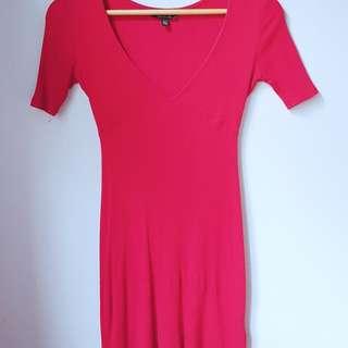 Topshop V Neck Mini Dress XS