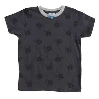 100% Cotton Casual Kids T- Shirts Ready Stock Dark Flowers Pattern