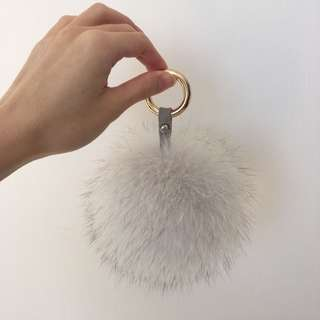 100% genuine fox fur pom pom ball