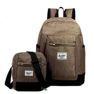 Herschel Backpack with Sling Bag Set