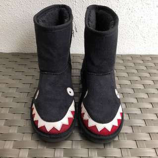 Boys Black Winter Boots - Shark