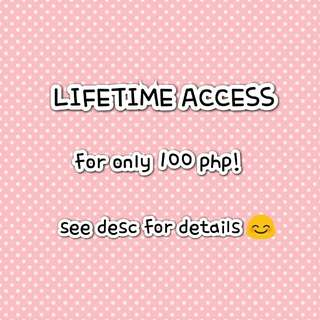 LIFETIME LIBRARY ACCESS (limited offer)