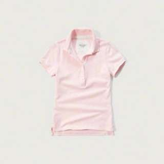 Abercrombie & Fitch Womens Polo LIGHT PINK - Size: M