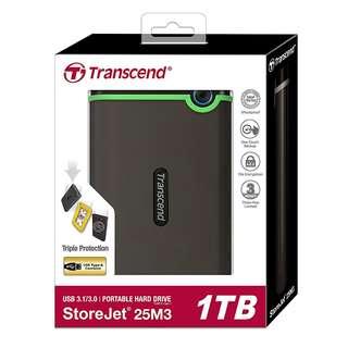 BNIB - Transcend StoreJet 25M3 1TB USB 3.0 External HDD