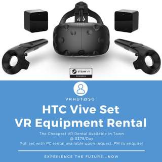 HTC Vive VR Set Rental 2018