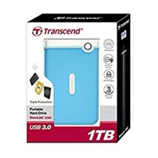 BNIB - Transcend StoreJet 25M3 1TB USB 3.0 External HDD (Baby Blue)