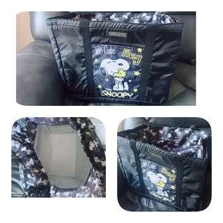 日本toreba景品(•̀ω•́)✧Snoopy 大容量 保溫野餐袋
