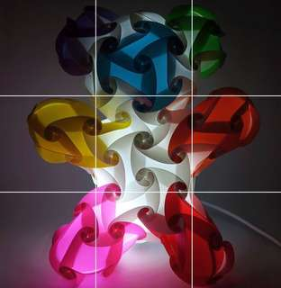 Teddy bear Jigsaw handmade lamp (Koolights)
