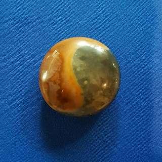 Taiji Pendant Natural Stone 太极圆石