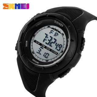 SKMEI 1074 ORIGINAL BLACK - Jam Tangan Sport Outdoor Water Resist 50M