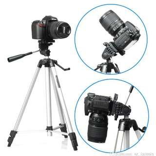 47cm - 134cm Camera Tripod Stand Quick Release Plate Kit Canon Nikon Sony DSLR Mirror less GoPro iPhone Camera Video Camcorder 330A