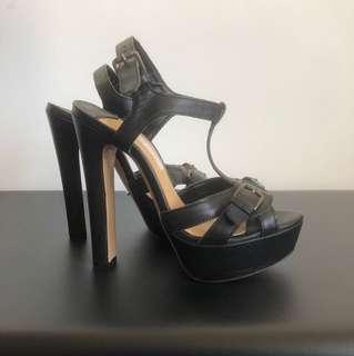 Tony Bianco black buckle heel Sz 6.5