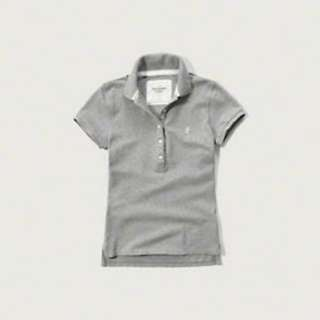 Abercrombie & Fitch Womens Polo GREY - Size: M