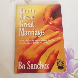 How to have a great marriage book