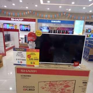 "Sharp LED TV 40"" bisa dicicil"