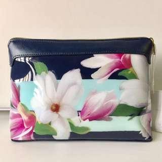 Ted Baker - JERREL Magnolia Stripe large wash bag (makeup bag)