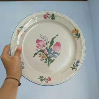 Piring Keramik Floral (sepaket)