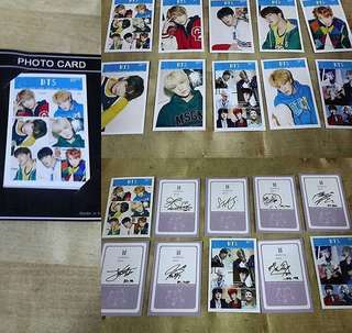 [Readystock] BTS Photocard