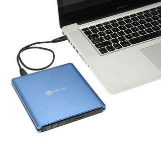 iClever USB 3.0 External DVD CD Drive, Faster Data Transfer CD/ DVD Burner