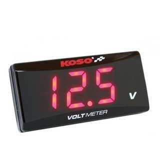 KOSO Voltmeter Red Colour
