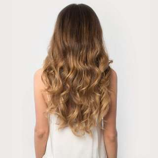 120g Luxy Hair Clip In Hair Extensions: Ombre blonde