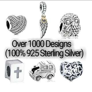 Over 1000 Designs (925 Sterling Silver Charms) To Choose From, Compatible With Pandora, T18