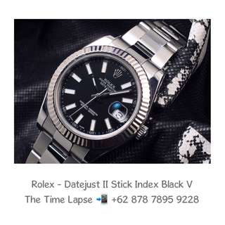 Rolex - Datejust II, Stick Index Black Dial 'V'