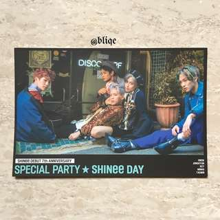 7th Debut Anniversary Group SHINee Day Official Postcard Korea Press.