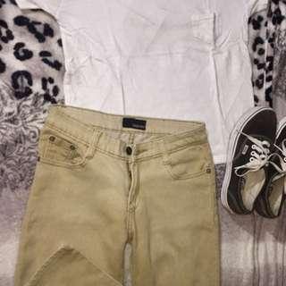 Reborn brown skinny pants