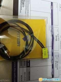 fitear cable 006b 2.5mm 99.99%新 平衡 有單有盒