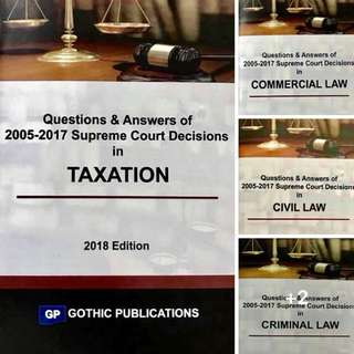 Questions & Answers of 2005-2017 Supreme Court Decisions (2018 Edition) by Gothic Publications