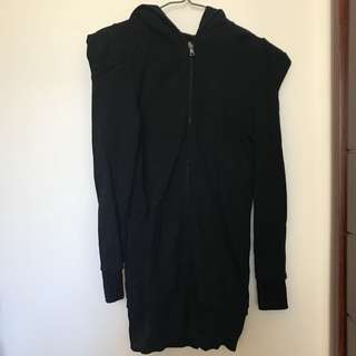 $100/2 (Size XS) izzue black long jacket
