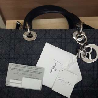 Authentic Dior Blue Cannage