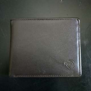 Hickok Leather Wallet Flap Brown Photo Card Holder