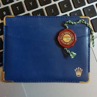 Rolex Blue Leather Cardholder snd Red Seal Tag 勞力士