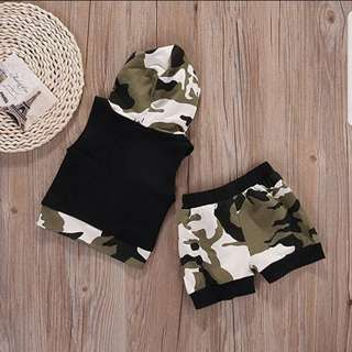 ❤INSTOCK❤ Tommy Baby Camo Hoodie Set