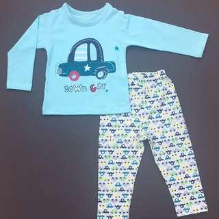 2 for $20 - Blue Car Pajamas - INSTOCK!